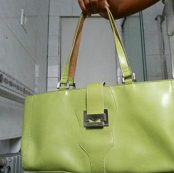 Mondani Handbags - Mondani Spring Green Simulated Leather Handbag